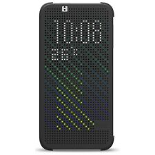 HTC Custodia originale Dot View Flip Cover Plastica rigida Grigio per Desire 510