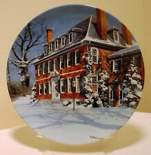 """The Georgian"" Collector Plate Home Sweet Home Robert McGinnis with COA"