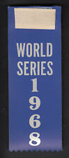 World Series 1968 Detroit Tigers vs Stl Cardinals 5.5 inch Red & Blue Ribbons