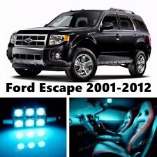 12pcs LED ICE Blue Light Interior Package Kit for Ford Escape 2001-2012