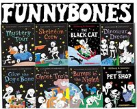 Funny Bones 8 Books Collection By Allan Ahlberg Set Black Cat, Mystery,Dinosaur