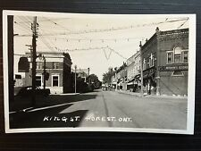 Circa 1950 Real Photo RPPC Vintage Postcard King Street FOREST Ontario Canada