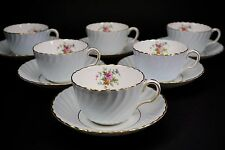 Minton Blue Dawn Cup and Saucer with Gold Trim S438 - Set of 6
