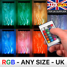 LED Bubble Wall Colour Changing Water Feature with Remote - MADE TO ANY SIZE!