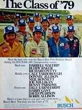 Earnhardt-Allison-Gant-Pa rsons-Bonnett-Petty-Baker 1979 Busch Original Print Ad