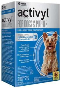 Activyl Small Dogs & Puppies Flea & Tick Treatment 4-14 lbs. 3 Doses