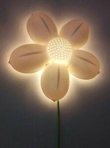 Ikea SMILA BLOMMA White Flower Night Light/ Wall Lamp