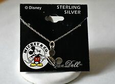 Sterling Silver 925 DISNEY Van Dell Mickey Mouse Ears Hat Pendant Necklace 18""