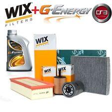 KIT TAGLIANDO OLIO MOTORE G-ENERGY 5W30 5LT+4 FILTRI WIX VW GOLF 5 V 2.0 TDI BKD