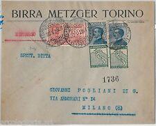 64190 - ITALIA REGNO - STORIA POSTALE : Pubblicitario REINACH *2 su  BUSTA 1925
