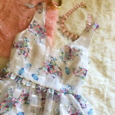 $228 Anthropologie Petal Pageant Dress Petite 6 Ivory Floral GORGEOUS Special