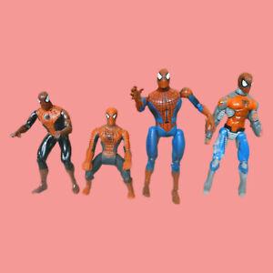 "Marvel Comics Spider-Man Action Figure Lot 1994 Night Shadow, 2002, 2003, 4 1/2"""