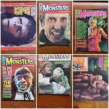 6 FAMOUS MONSTERS OF FILMLAND #63+ Magazines Flash Gordon AD Mid GRADE Lot Comic