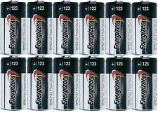 12 Energizer 3V Lithium CR123A Batteries for Camera, Flashlight etc