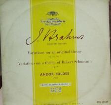 "Brahms(10"" Vinyl)Variations On A Original Theme Op.21-Deutsche Grammophon-DG 170"