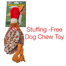 Fun Duck Stuffing-Free Dog Toy With 1 Squeaker 14 Inches Long For Dogs All Sizes