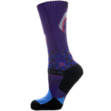 Strideline Athletic Crew Socks Optics Imperial Purple 2600211  Strapped Fit Mens