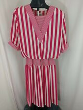 Vintage ILGWU Perceptions Pin and White Striped Dress