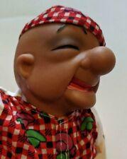 "Vintage Mr. Magoo 13"" Plush Doll In Plaid Shirt & Cap Soft Body w/ Rubber Head !"