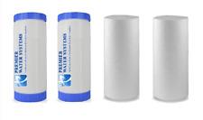 """4 Big Blue Water Filters GAC Carbon & Sediment 4.5"""" x 10"""" Whole House Cartridges"""