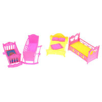 Doll Furniture Rocking Cradle Bed for    Kelly Doll Accessories Girls GiftHF