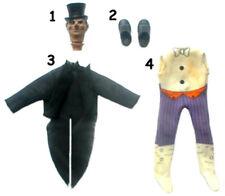 "1974 BATMAN 8"" mego doll -- Robin Joker Penguin Riddler - BOOTS SHIRT SHOES SUIT"