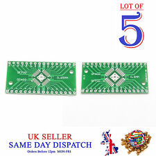 5x 2 lato PCB QFN32 a QFP32 0.8 mm / 0,65 mm pin SIDE ADAPTER BOARD IC PIASTRA