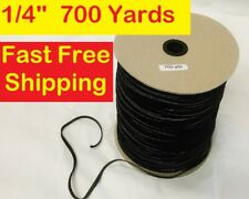 Black 1/4 inch Elastic Band 700 Yards Ideal for Face Masks FAST FREE SHIPPING