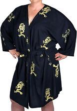 Kimono Robe, Rayon Batik - Dragons on Black