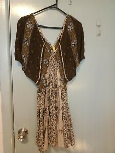 Free People Indian style short dress in size XS