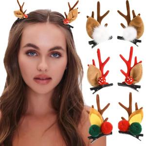 Deer Antler Christmas Hairpins Ear Hair Clip Hair Ball Barrette Hair Accessories