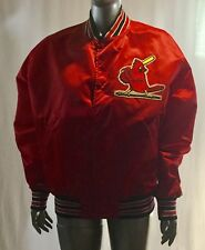 Vintage St Louis Cardinals Starter Jacket Mens XL Satin Red MLB Baseball