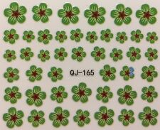 Nail Art 3D Decal Stickers Green Flowers St. Patrick's Day QJ-165
