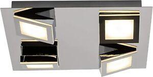 Brilliant Indoor Winner Ceiling Light 4 Light Led Metal Plastic, Chrome