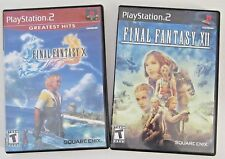 Final Fantasy X and XII PS2 Games Sony PlayStation 2 Both Complete