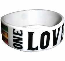 Authentic Bob Marley One Love Rasta Silicone Reggae Wristband