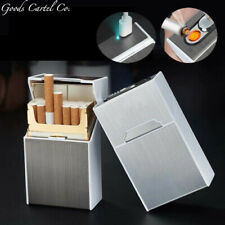2 in 1 Cigarette Case Set Lighter Flameless USB Rechargeable Windproof Lighter!