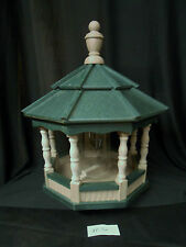 Poly Bird Feeder Amish Gazebo Handcrafted Homemade Clay & Green Roof Md