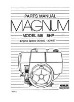 Kohler Magnum M8 8HP 301500-301627 TP-2201-C Parts Manual