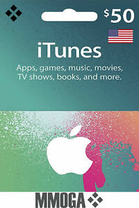 $50 US Dollar iTunes Prepaid Card - Apple Store Digital Code - [US]