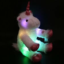 "LED Stuffed Unicorn Mystical Plush Animal Large 16"" Kids Night Light Toy Gift"