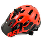 New BELL SUPER 2 MTB AM Mountain Helmet with Visor Infrared Red M 55-59cm