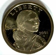 2001 S SACAGAWEA Golden Dollar Native American PROOF Coin US Mint MADE IN USA