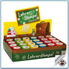 6 LEHRERSTEMPEL BASIC - Set Schule & Vorschule Pädagogik 6 Motive selbstfärbend