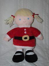 Just one Year Carter's PLUSH GIRL SANTA HELPER Blonde Doll Blue Eyes Baby