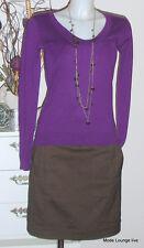 Noa Noa Rock Wolle Skirt Blackthorn Blend XS 34 Earth braun wool kjole