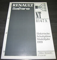 Werkstatthandbuch Elektrik Renault Safrane elektrische Schaltpläne ab 1999!