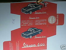 REPLIQUE  BOITE VESPA 400 QUIRALU 1958