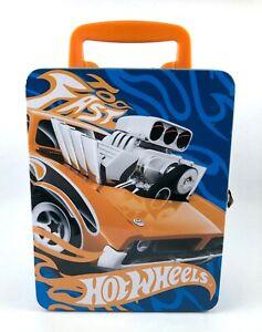 2011 Neat-Oh! Mattel Hot Wheels Metal Tin Lunch Box 18 Car Carry Case