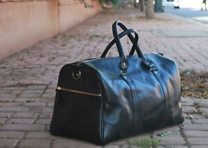 Leather Travel Bag ,leather duffle bag, 100% Full Green Leather bag.